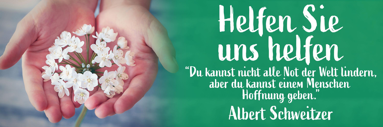 Albert Schweitzer Zitat - Spenden